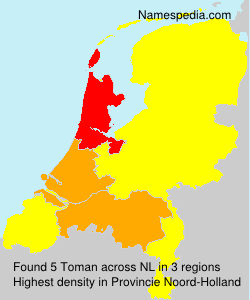 Surname Toman in Netherlands