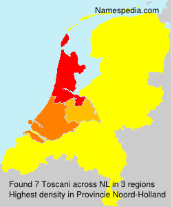 Surname Toscani in Netherlands