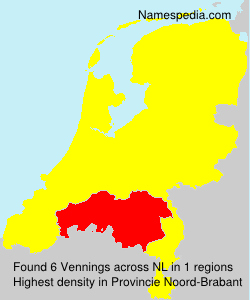 Surname Vennings in Netherlands