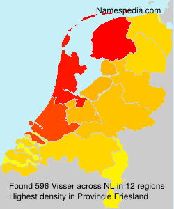 Surname Visser in Netherlands