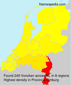Surname Voncken in Netherlands