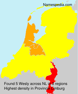 Surname Wesly in Netherlands
