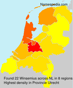 Surname Winsemius in Netherlands