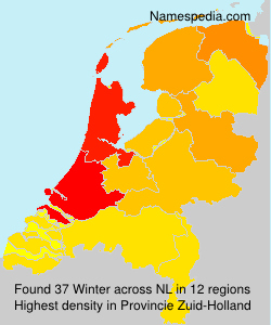 Surname Winter in Netherlands