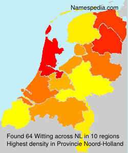 Surname Witting in Netherlands
