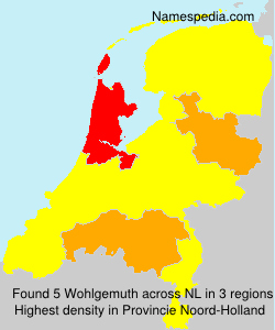 Surname Wohlgemuth in Netherlands