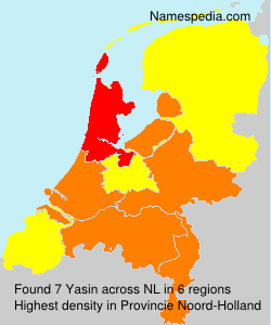 Surname Yasin in Netherlands