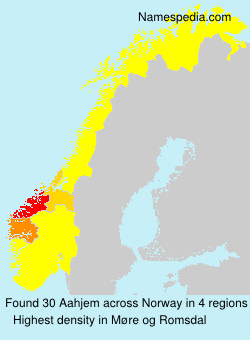 Surname Aahjem in Norway