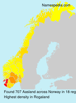 Surname Aasland in Norway
