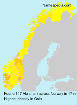 Surname Abraham in Norway