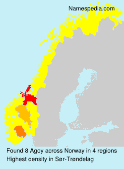 Surname Agoy in Norway