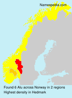 Surname Alu in Norway