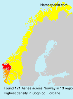 Surname Asnes in Norway