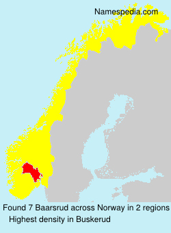 Surname Baarsrud in Norway