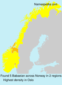 Surname Babaeian in Norway