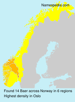 Surname Baer in Norway
