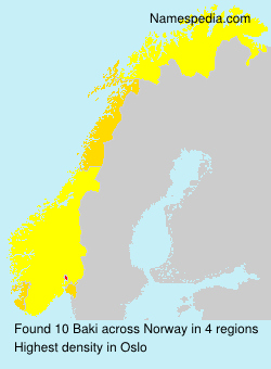 Surname Baki in Norway