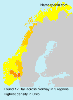 Surname Bali in Norway