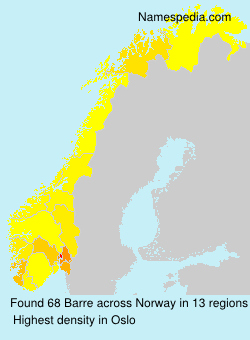 Surname Barre in Norway