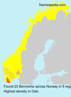 Surname Benneche in Norway