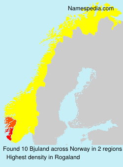 Surname Bjuland in Norway
