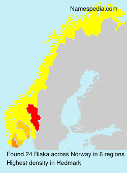 Surname Blaka in Norway