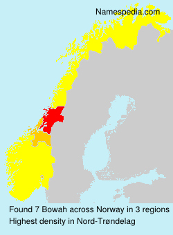 Surname Bowah in Norway