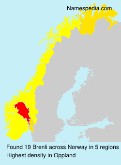 Surname Brenli in Norway