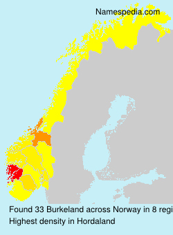Surname Burkeland in Norway