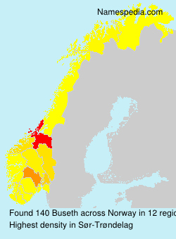 Surname Buseth in Norway