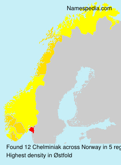 Surname Chelminiak in Norway