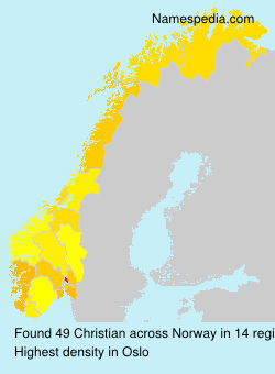 Surname Christian in Norway