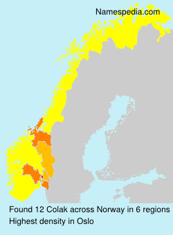 Surname Colak in Norway