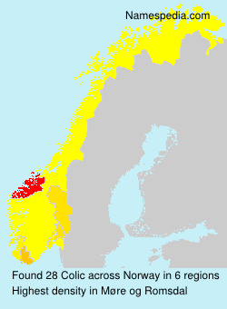 Surname Colic in Norway