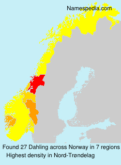 Surname Dahling in Norway