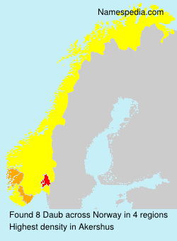 Surname Daub in Norway