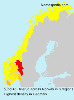 Surname Dillerud in Norway