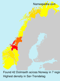 Surname Dolmseth in Norway