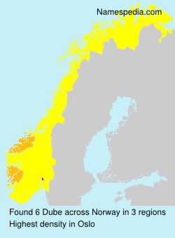 Surname Dube in Norway