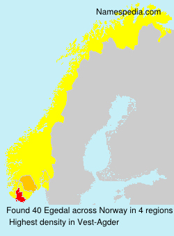 Surname Egedal in Norway