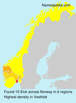 Surname Eick in Norway