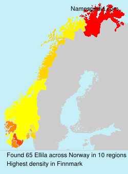 Surname Ellila in Norway