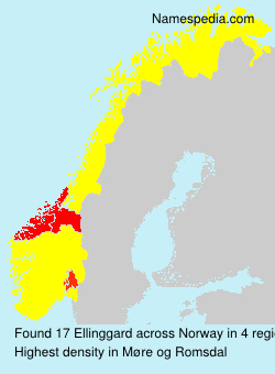 Surname Ellinggard in Norway