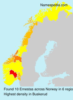 Surname Ernestas in Norway