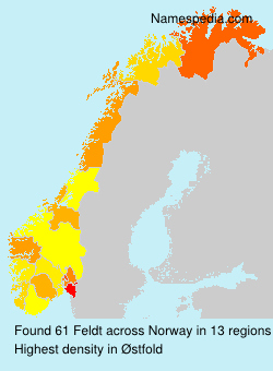 Surname Feldt in Norway