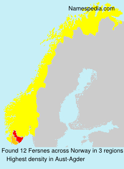Surname Fersnes in Norway
