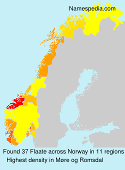 Surname Flaate in Norway