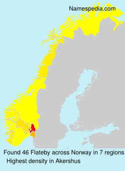 Surname Flateby in Norway