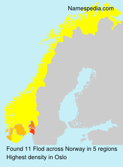 Surname Flod in Norway