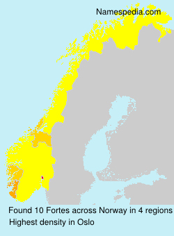 Surname Fortes in Norway